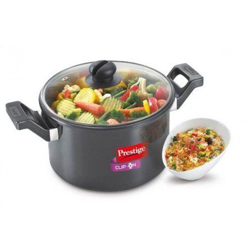 Prestige Clip-on HA Cookware 5ltr With Glass Lid