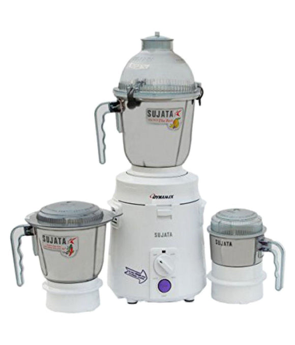 Sujata Dynamix DX 900-Watt Mixer Grinder with 3 Jars (White) free delivery