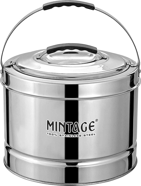 Mintage Stainless Steel 20 L Hot Pot with Side Handle (Silver)