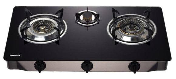 3 WOK Burner NZ with glass top Certified Gas Stove For INDOOR use