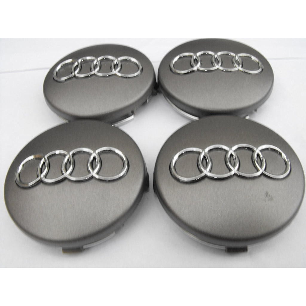 X Mm Gray Audi Wheel Center Caps Side Auto - Audi wheel center caps