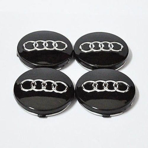 X Mm Black Audi Wheel Center Caps Side Auto - Audi wheel center caps