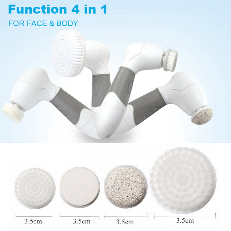 4-in-1 Electric Facial and Body Cleansing System