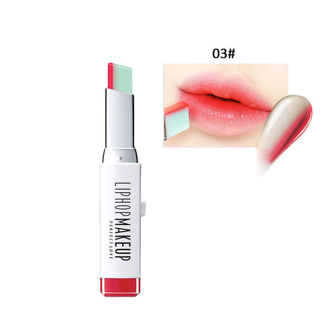 Double Color, Natural Looking, Waterproof and Long Lasting Lipstick