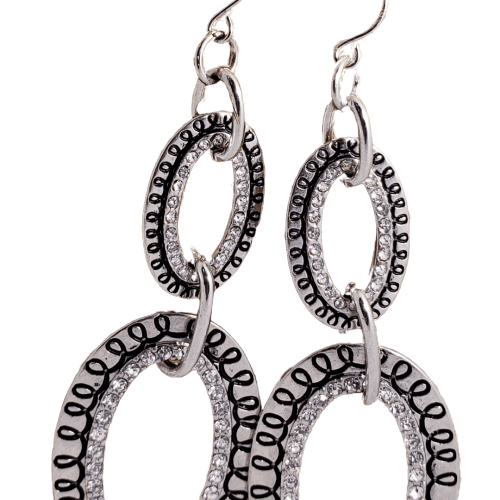 Diamond Doll Double Hoop Earrings