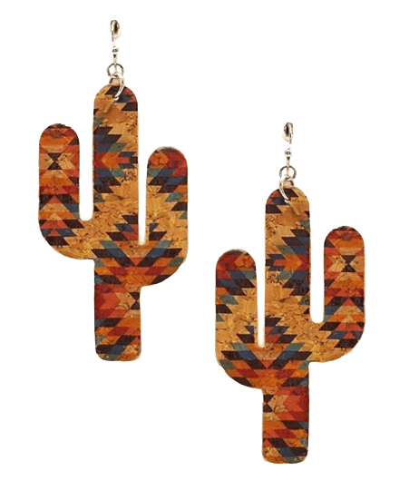 Cork Cactus Earrings