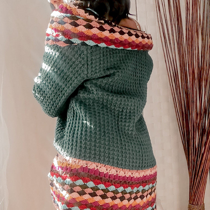 Pretty Lady Deep Green Cardigan