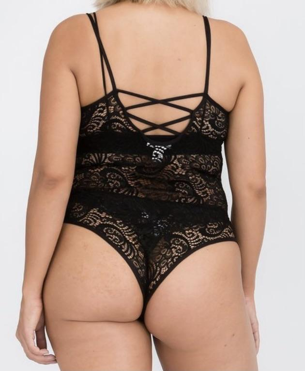 All The Way Cami Lace Bodysuit