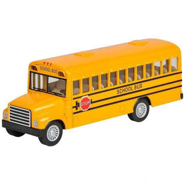 5 Diecast Pull Back School Bus Toys $9.99