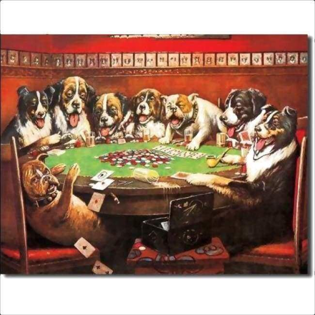 8 Dogs Poker Game Tin Sign Home & Decor $11.95