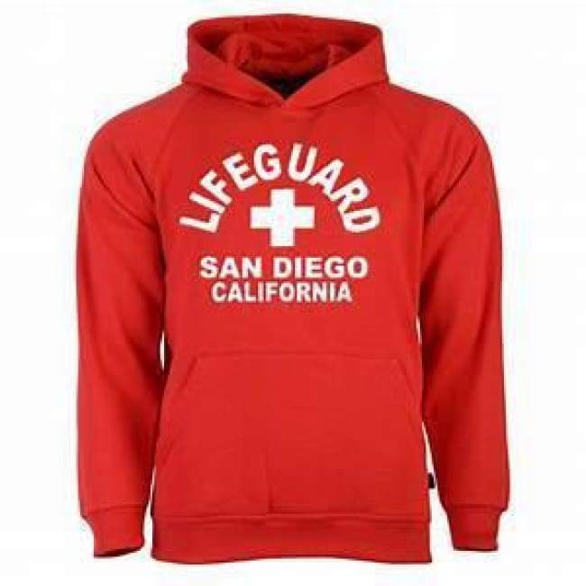 Adult Hooded Red Sweatshirt Apparel $29.99