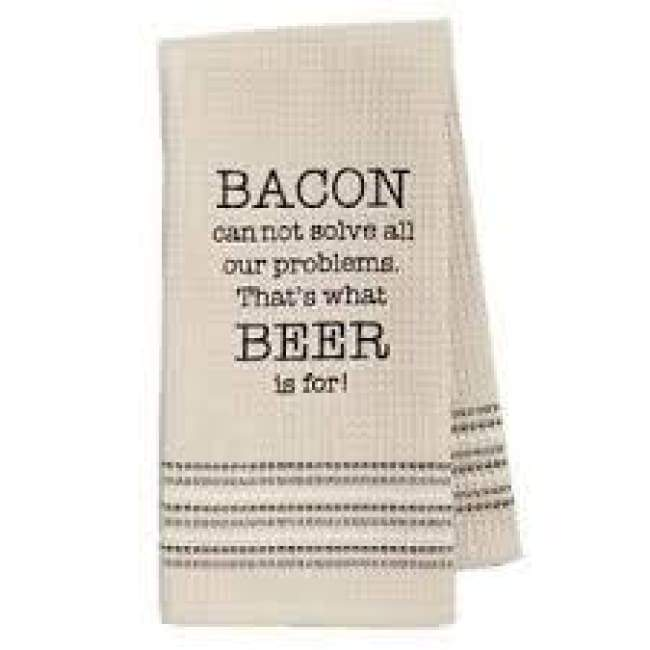 Bacon & Beer Dishtowel Novelty Gifts $12.99