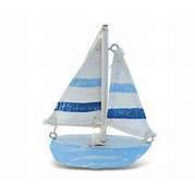 Blue & White Sail Boat Small 11 Home Decor $6.99