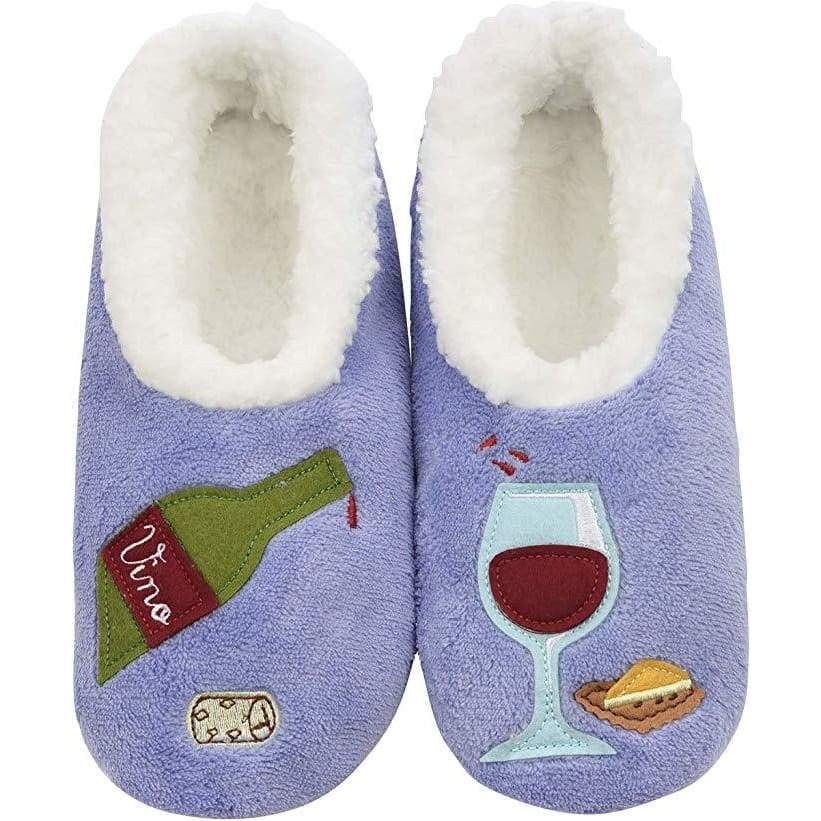 Bottle Of Red Cocktail Hour Slippers Foot Covering For Womens Footwear $14.99