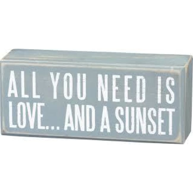 Box Sign All You Need Is Love... And A Sunset Home & Decor $11.99