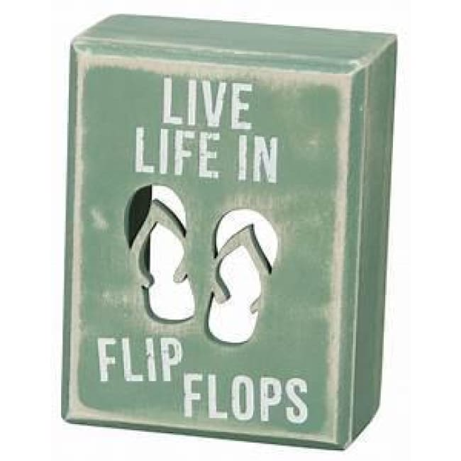 Box Sign Flip Flops Home & Decor $11.99