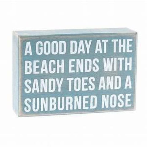 Box Sign Sunburned Nose Home & Decor $14.99