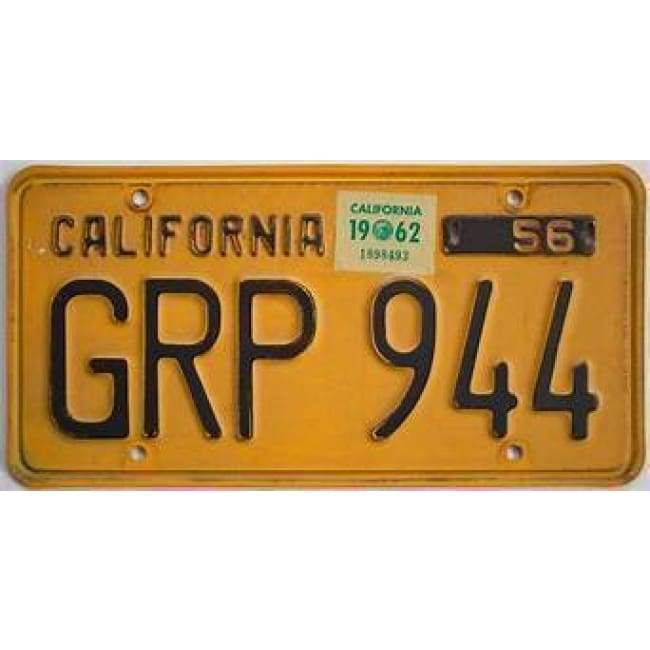 California Vintage Genuine License Plate Home & Decor $99.99