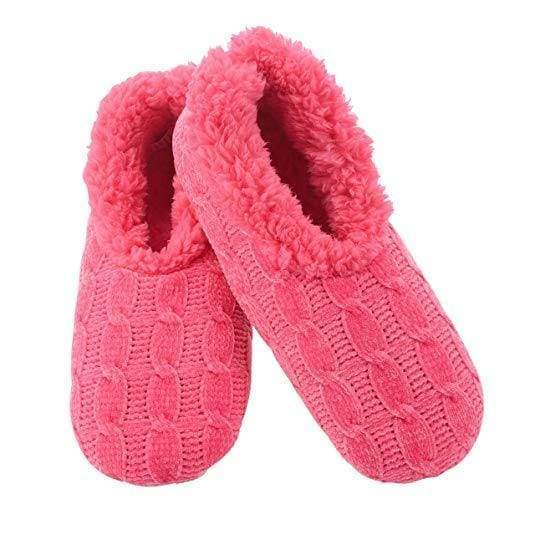 Chenille Solid Pink Snoozies Slippers Foot Covering For Womens Footwear $14.99