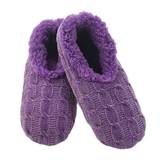 Chenille Solid Purple Snoozies Slippers Foot Covering For Womens Footwear $14.99