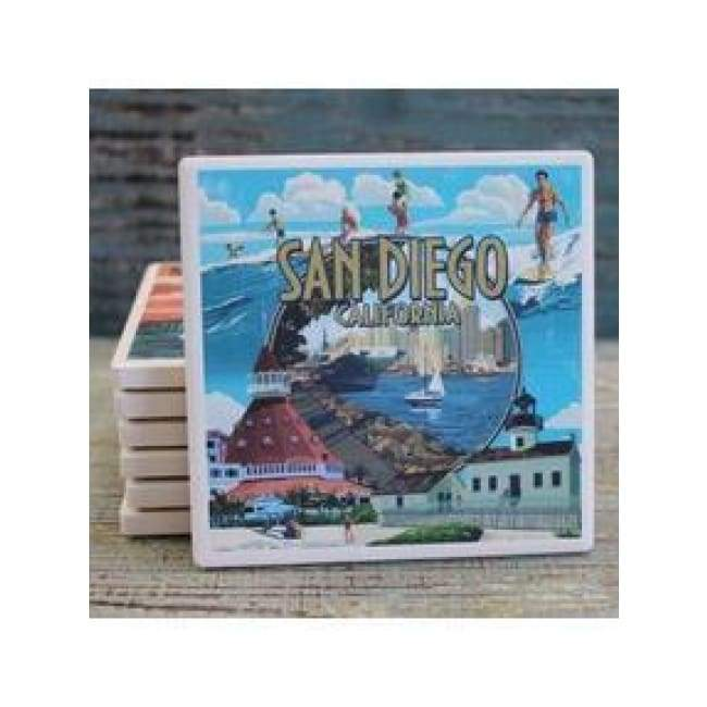 Coaster By Lantern San Diego Collage Gifts $5.99