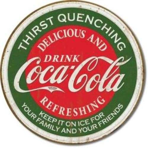 Coke Thirst Quenching Tin Sign Home & Decor $11.95
