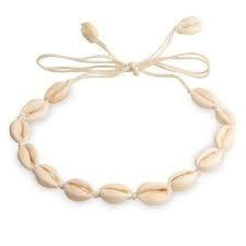 Cowrie Shell Choker Necklace General Merchandise $6.99