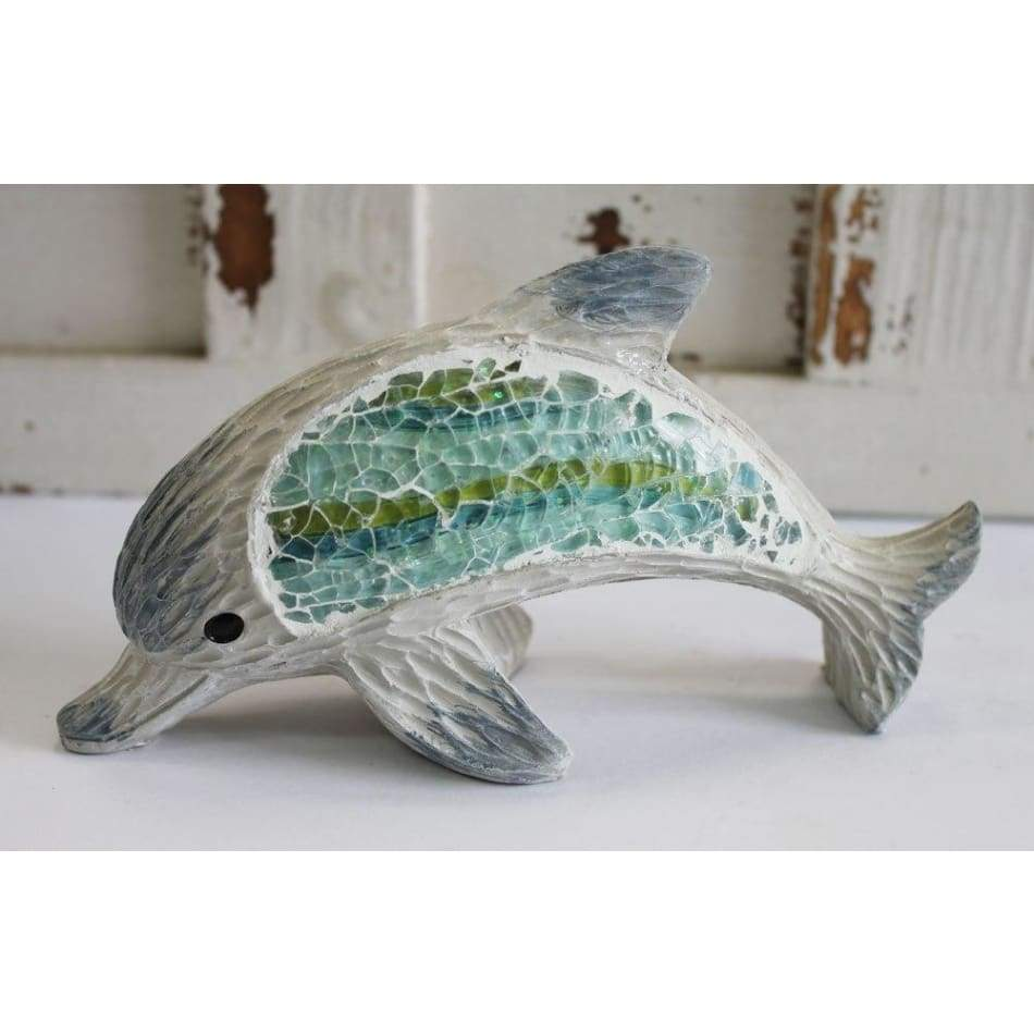 Crushed Glass Dolphin 6 Home & Decor $14.99
