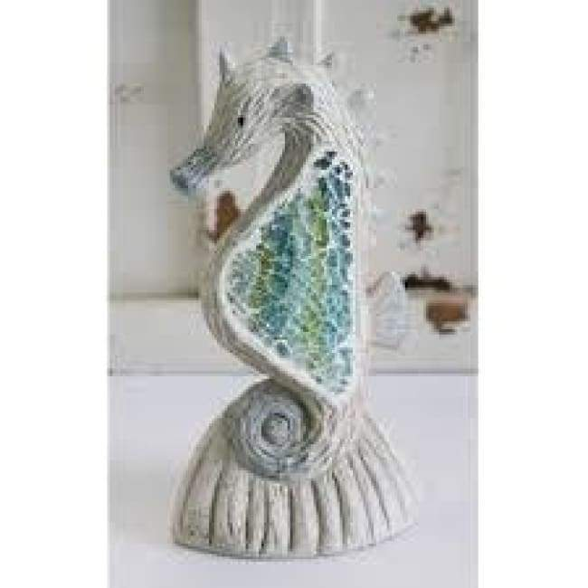 Crushed Glass Seahorse 6 Home & Decor $14.99