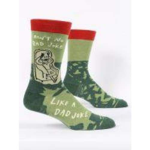 Dad Joke Crew Socks For Men Footwear $12.99