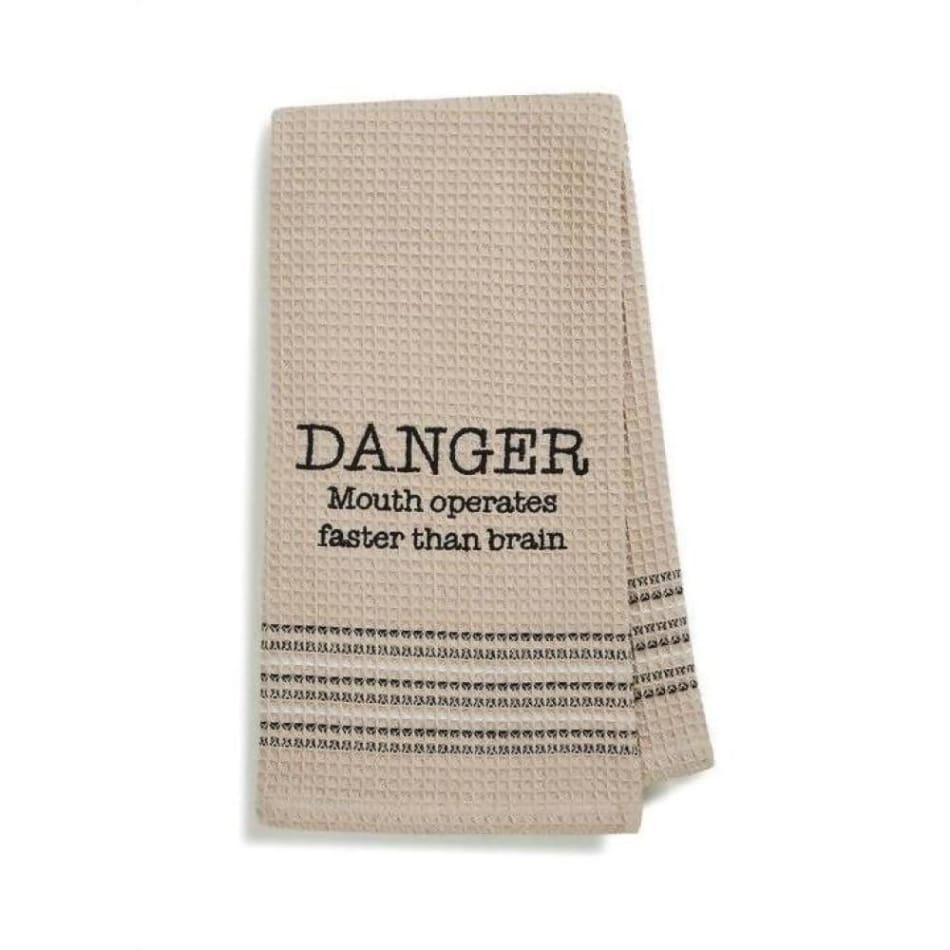 Danger Dishtowel Novelty Gifts $12.99
