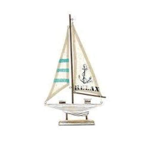 Distressed Brown Wood Sailboat 14 Home & Decor $19.99