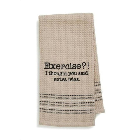 Exercise Dishtowel Novelty Gifts Gifts $12.99