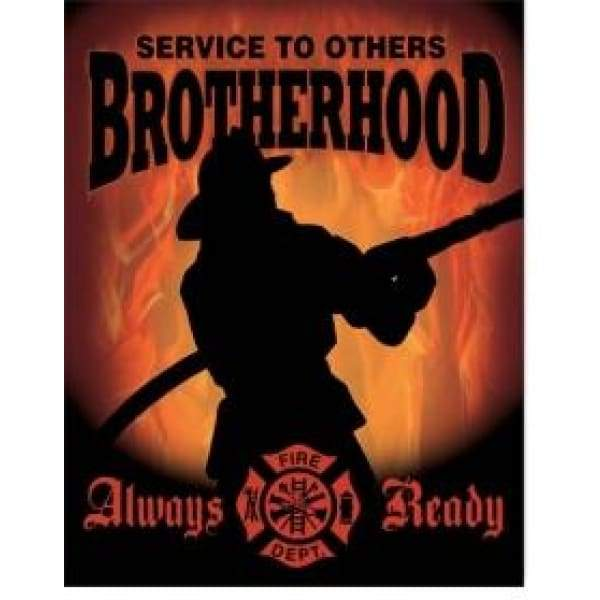 Fireman Brotherhood Tin Sign Home & Decor $11.95
