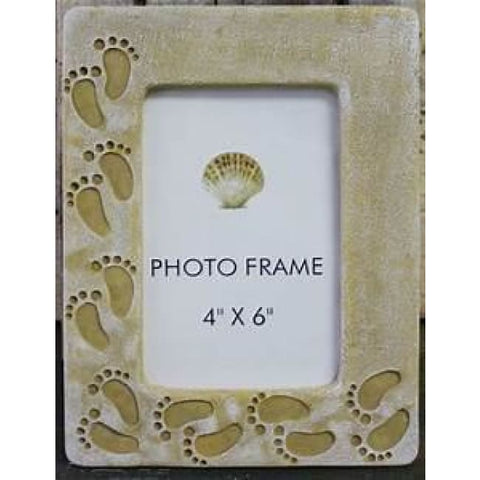 Frame Picture Footprints In The Sand Home & Decor $14.99