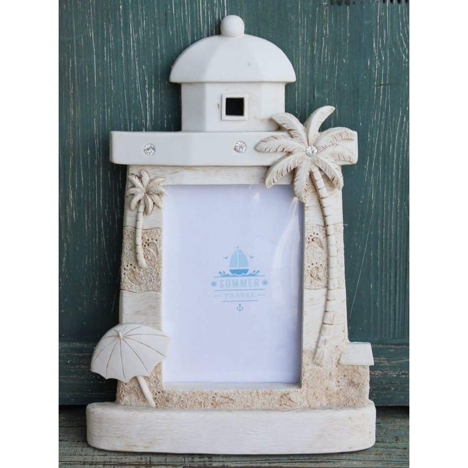Frame Picture White Sand Castle Home & Decor $22.99