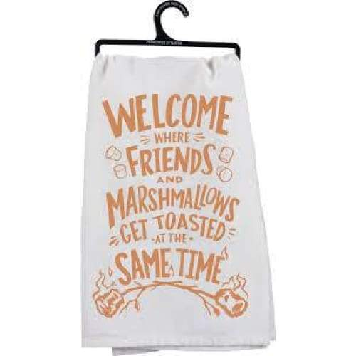 Friends And Marshmallows Dishtowel Novelty Gifts $12.99