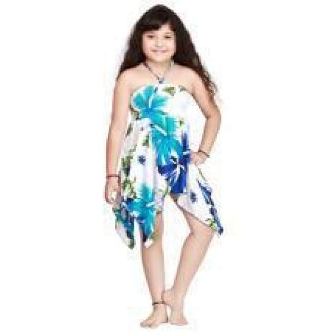 Girls Dress Hankercheif Hem Hawaiian 4 Colors Apparel $19.99