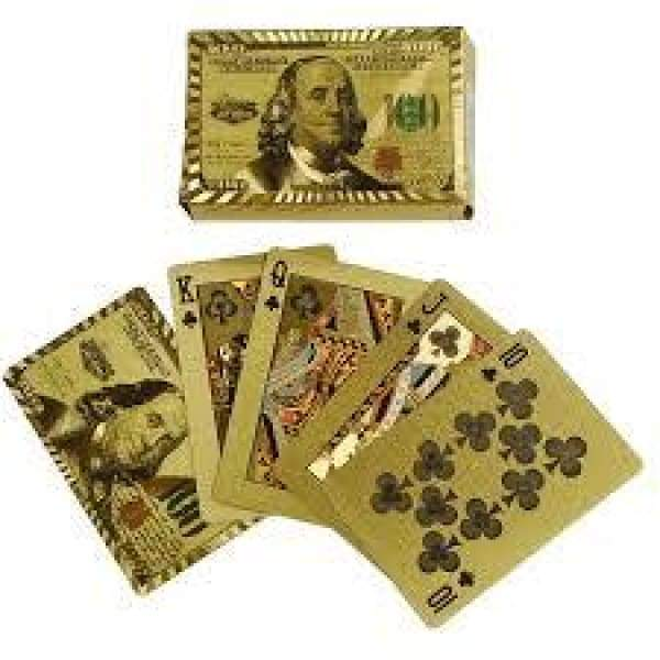 Gold Money Playing Cards Toys $8.99