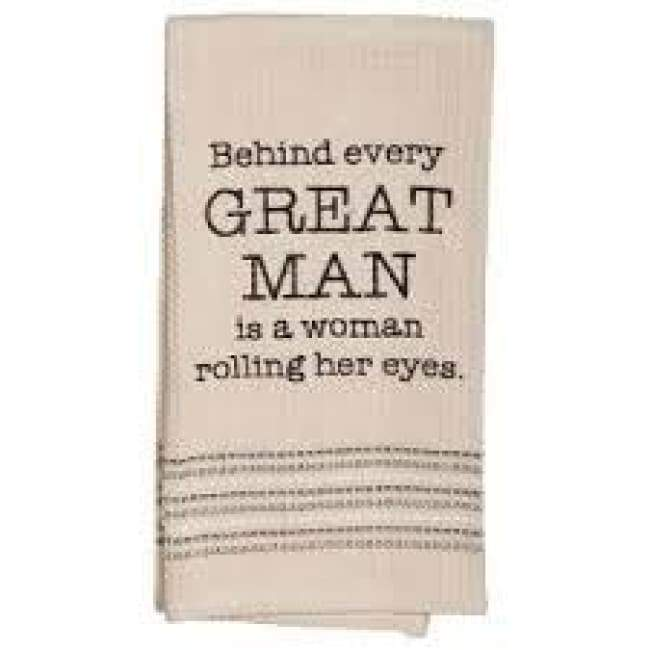 Great Man Dishtowel Novelty Gifrts Gifts $12.99