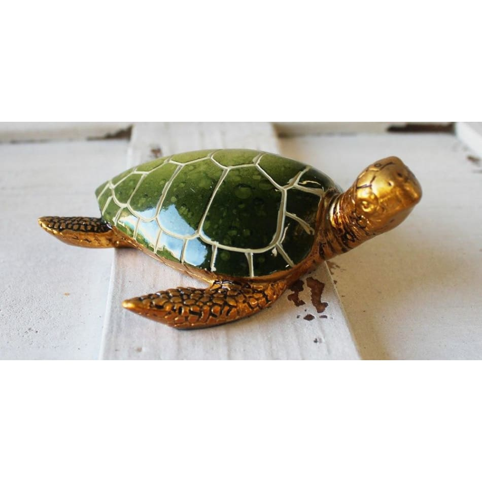 Green & Gold Turtle Figurine 5 Home Decor $12.99