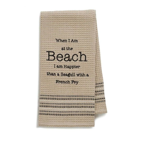 Happy Beach Dishtowel Novelty Gifts Gifts $12.99