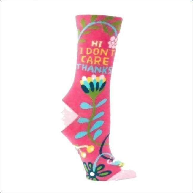 Hi I Dont Care Crew Socks For Woman Footwear $12.99
