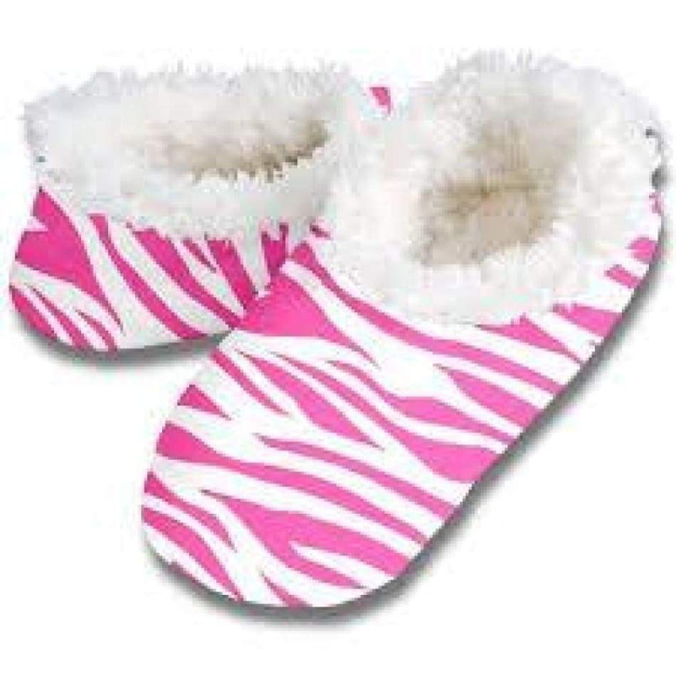Hot Zebra Snoozies Slippers Foot Covering For Womens Footwear $12.00