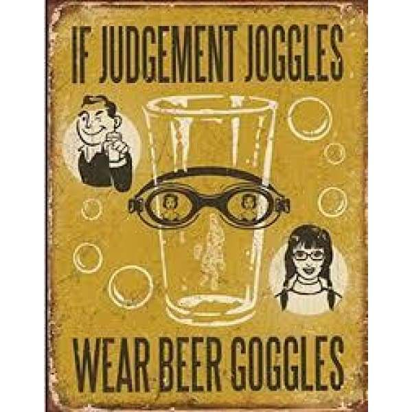 If Judgement Joggles Tin Sign Home & Decor $11.95