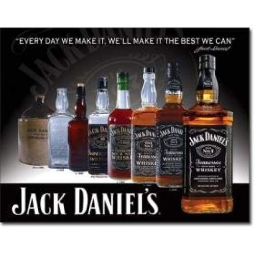 Jack Daniels Bottles Tin Sign Home & Decor $11.95
