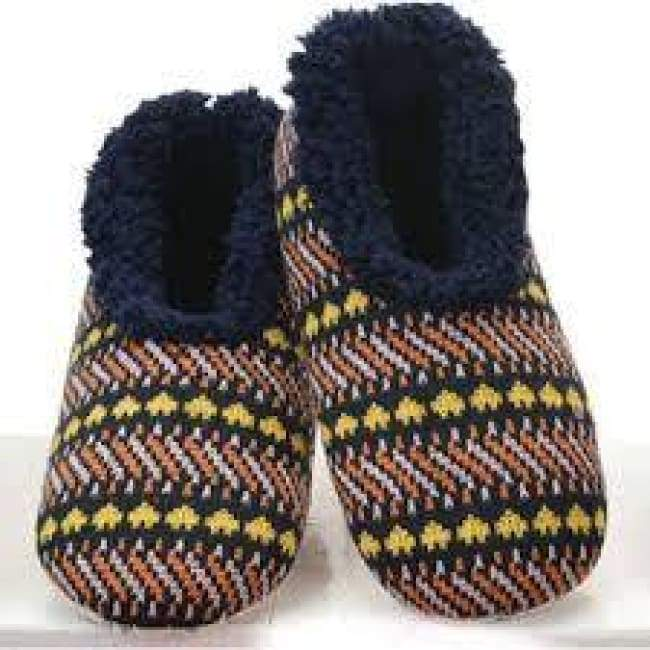 Jacquard Heart Navy Snoozies Sleepers Foot Covering For Womens Footwear $14.99