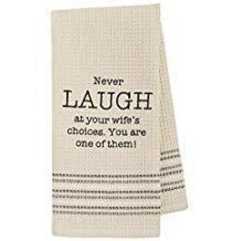 Laugh Dishtowel Novelty Gifts Gifts $12.99