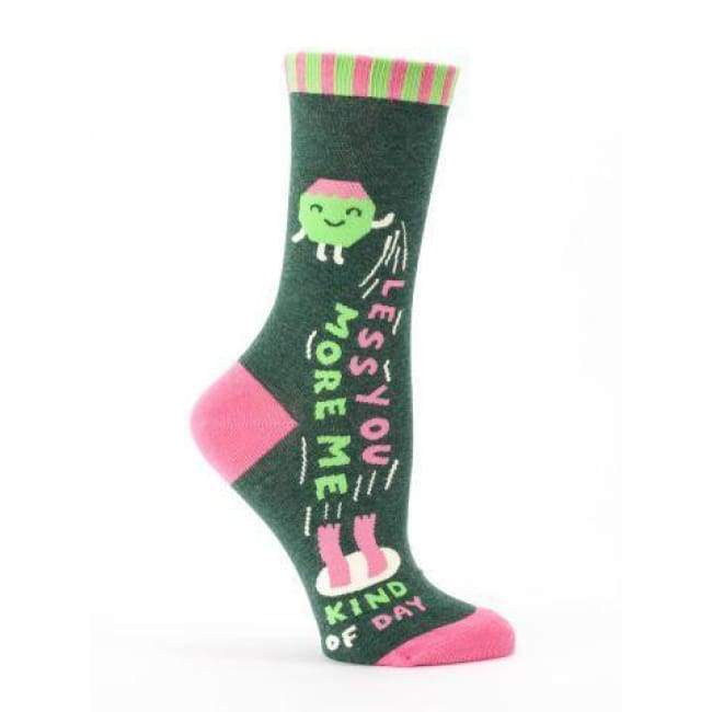 Less You More Me Crew Socks For Woman Footwear $12.99