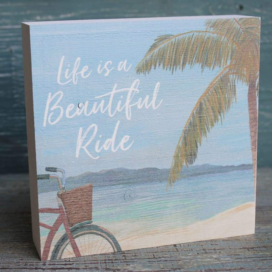 Life Is A Beautiful Ride Wood Sign Home & Decor $14.99